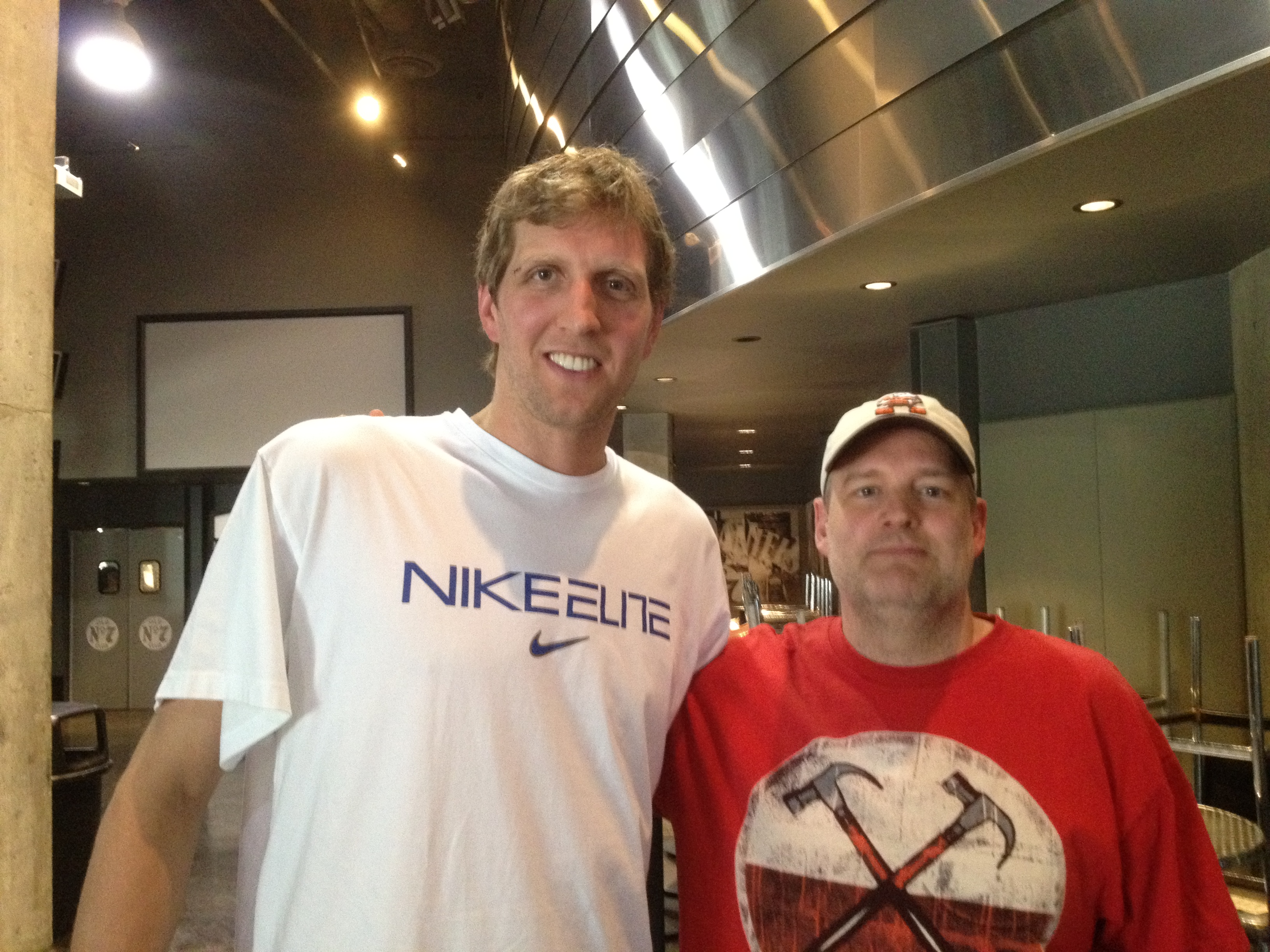Dan and Dirk Nowitzki